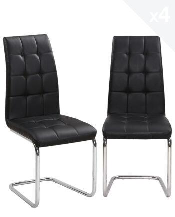 chaises-Salle-a-Manger-Matelassées-lot-de-4-maxi-kayelles-noir