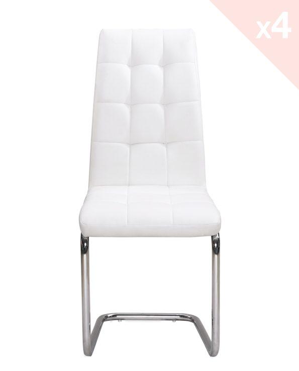 Chaises de salle à manger - blanc - MAXI - Kayelles