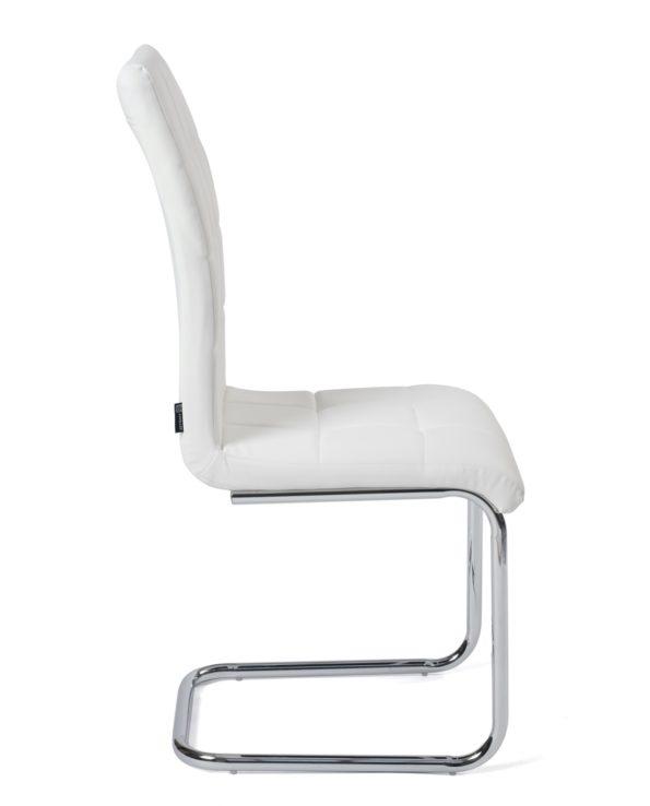 Chaises salle à manger Lot de 4 - matelassées - Blanc