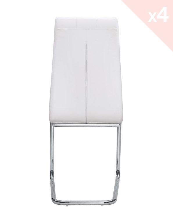 Chaises salle à manger - matelassees - blanc - MAXI Kayelles