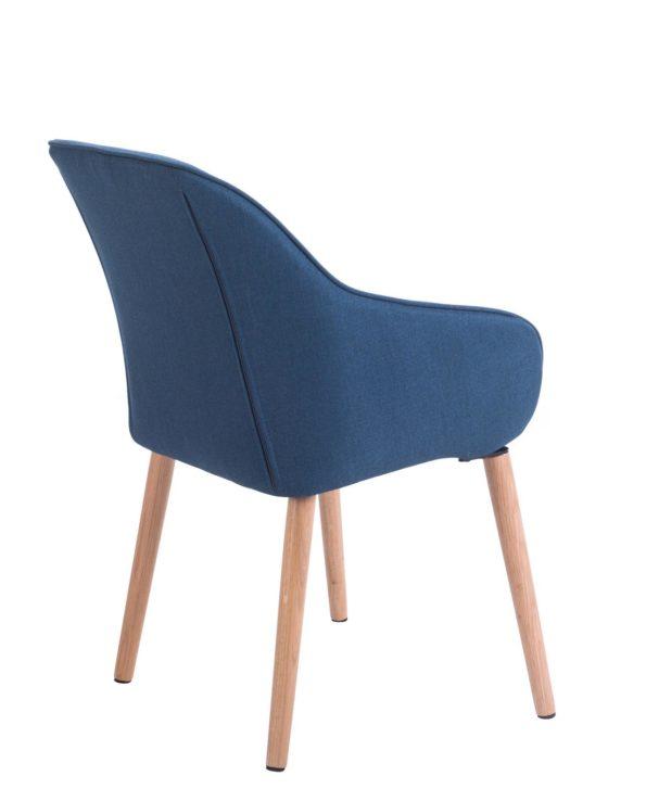 Chaise à accoudoirs piétement Chêne - Bleu Corse - KAYELLES
