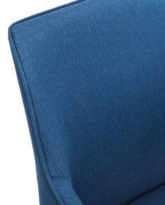 Chaise Design Scandinave piétement Chêne - Bleu Corse