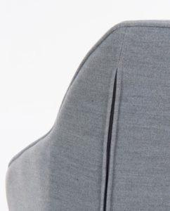 DITA Chaise à accoudoirs piétement Chêne - Gris Chiné
