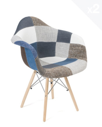 chaise-accoudoirs-scandinave-patchwork-bleu-NADOR