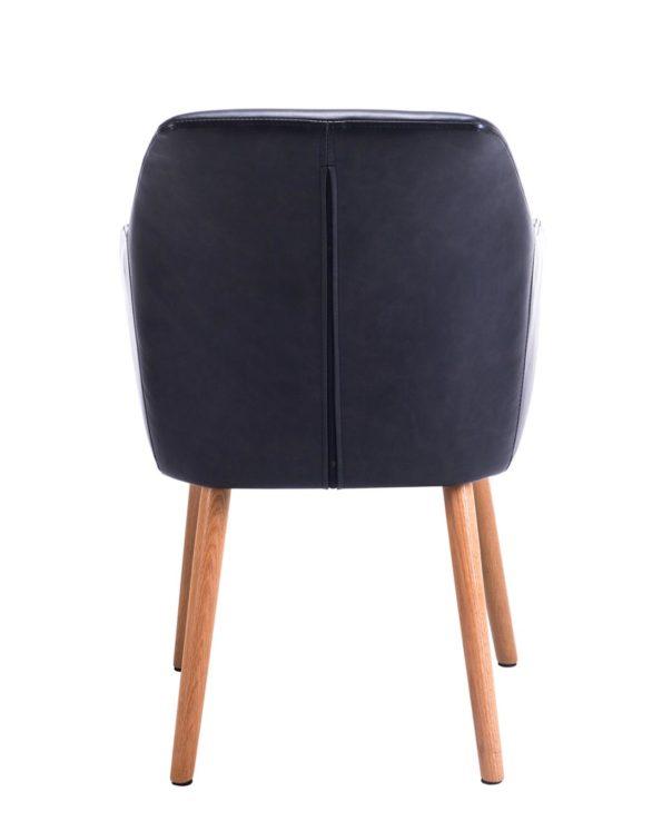 Petit fauteuil Marron Foncé Style Scandinave - KAYELLES DOT - Design Moderne
