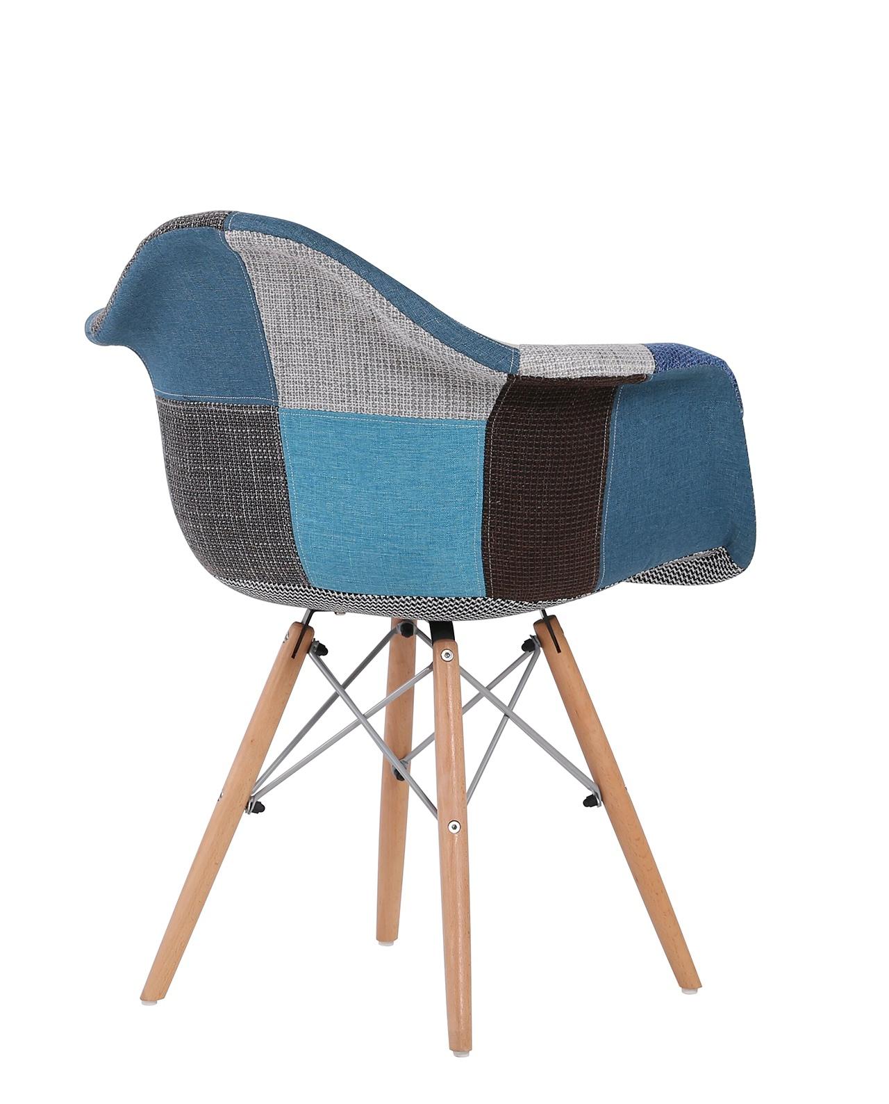 Chaise Daw Patchwork Nador Bleu