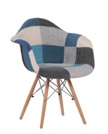 Chaise Patchwork bleu - NADOR kayelles
