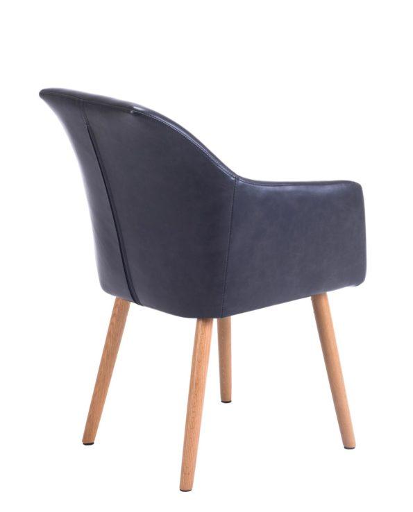 Chaise de visiteur avec accoudoirs Marron Foncé Style Scandinave - KAYELLES DOT