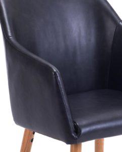 Chaise de visiteur avec accoudoirs Marron Foncé