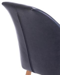 Fauteuil visiteur avec accoudoirs Marron Foncé Style Scandinave - KAYELLES DOT - Design Moderne