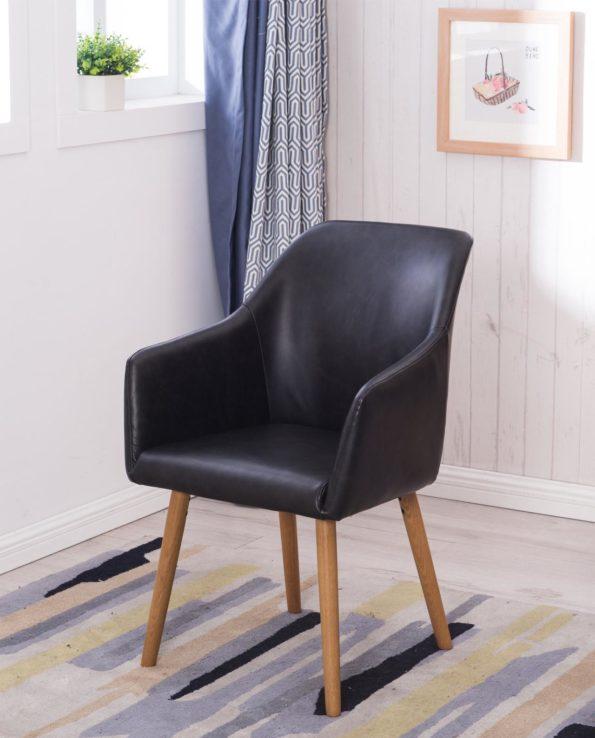 Chaise de visiteur avec accoudoirs - Style Scandinave - Salle d'attente, café, resto, bar