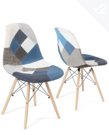 chaises-scandinaves-patchwork-bleu-kayelles-lot-2-NADIR
