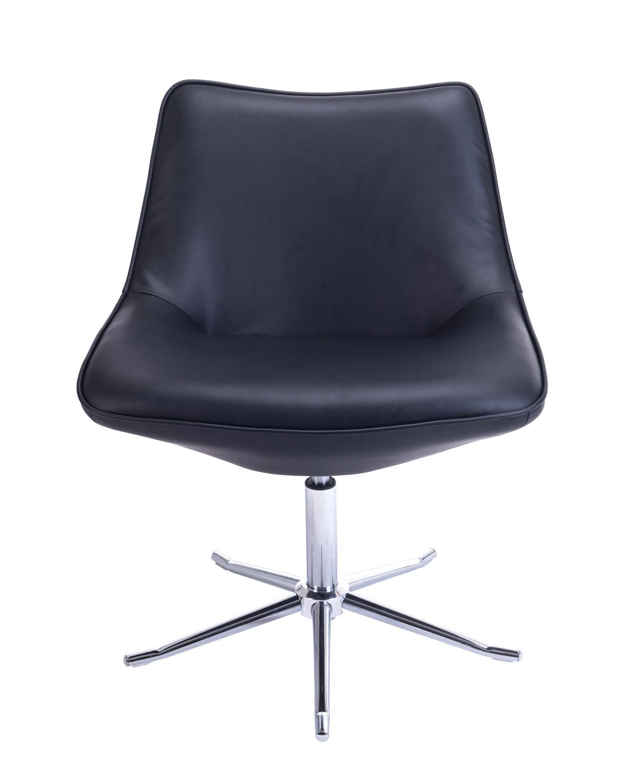 Fauteuil lounge design moderne pietement metal don for Chaise de salon noir