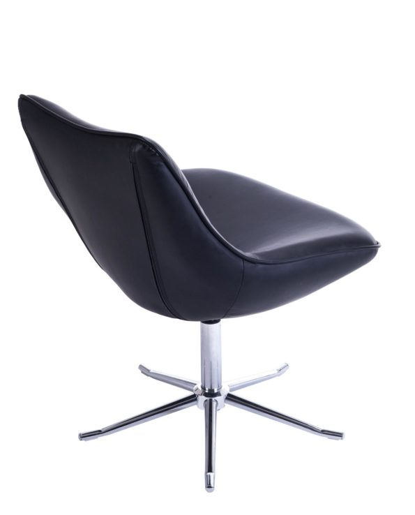 Chaise Lounge Design Moderne Pietement Metal - Noir - DON