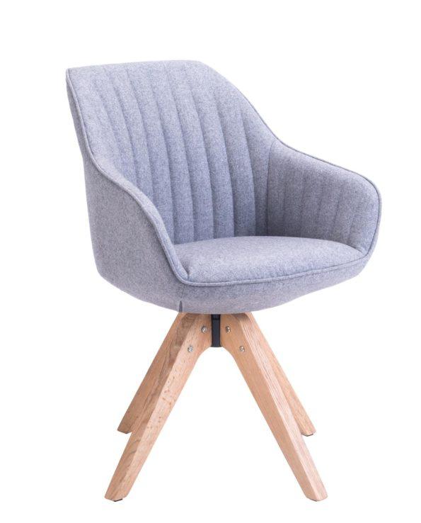 Chaise Design scandinave pivotante (Gris Flanelle)