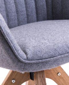 DUNE - Chaise Design scandinave (Gris Flanelle)