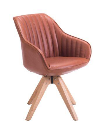 Chaise Design scandinave pivotante (Havane)