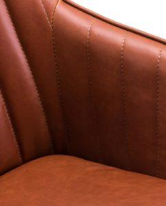 DUNE - Chaise Design scandinave pivotante (Havane)