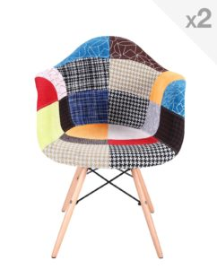 NADOR Lot de 2 chaises Design DAW Patchwork