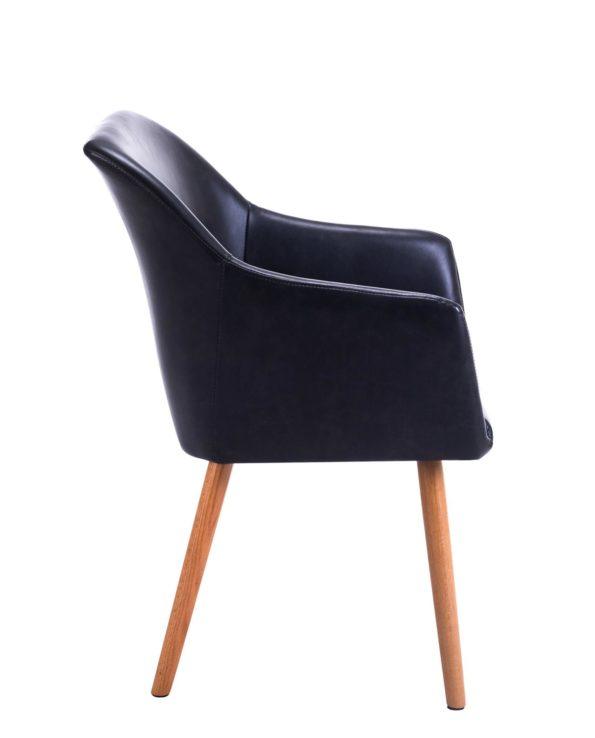 DOT - Chaise de visiteur avec accoudoirs - Style Scandinave - Salle d'attente, café, resto, bar