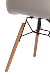 KUTA Lot de 2 chaises design eames DAW - Beige