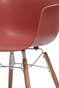 KUTA Lot de 2 chaises design eames DAW - Safran