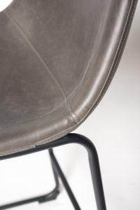 chaise de bar industriel - HELIO61 metal et PU Gris vintage - kayelles