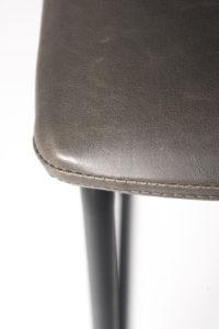 chaise de bar industriel - HELIO61 metal et PU Gris vintage