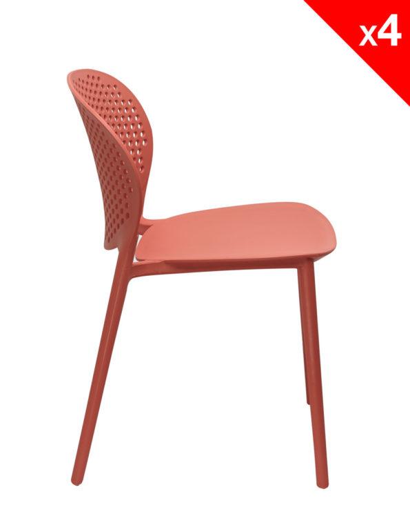 Chaise de jardin Design Moderne en Plastique - GOA - Safran