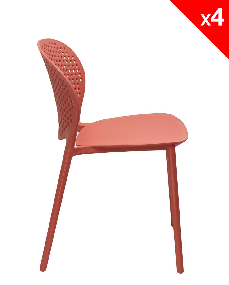 lot de 4 chaises moderne int rieur ext rieur goa. Black Bedroom Furniture Sets. Home Design Ideas