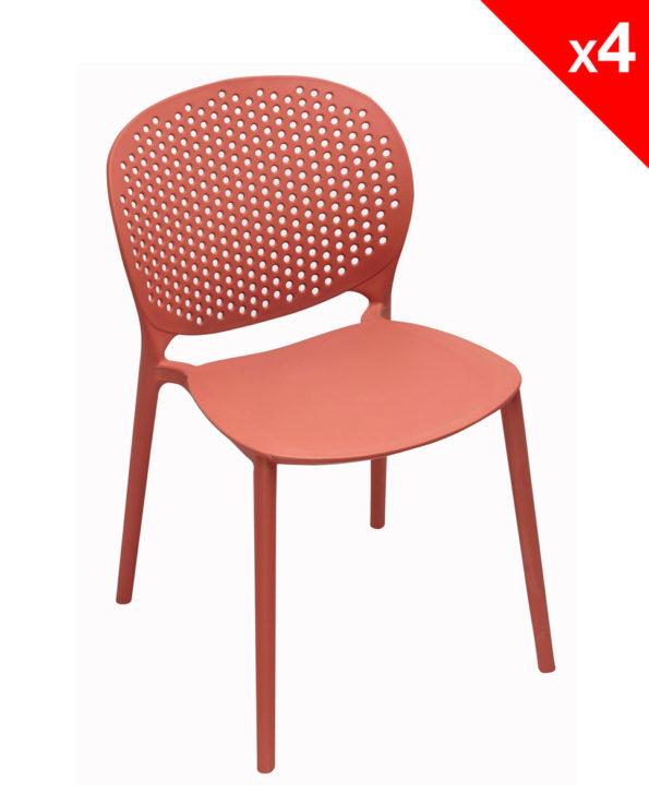 Chaise de cuisine Design Moderne en Plastique - Kayelles GOA - Safran
