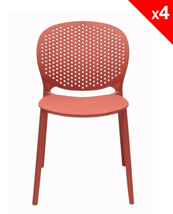 Chaise de cuisine Design Moderne en Plastique - GOA - Safran