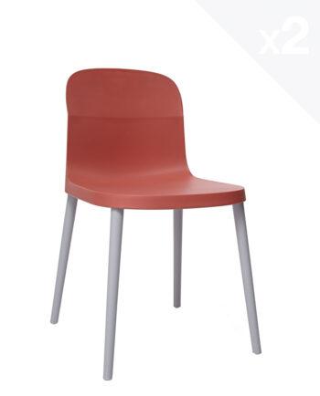 chaise-cuisine-moderne-santi-lot-2-chaises-design-simple-pratique-orange