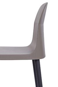SANTI Lot de 2 chaises design Intérieur / Extérieur - Cuisine - Jardin - Grises