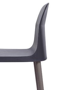 SANTI Lot de 2 chaises design Intérieur / Extérieur - Cuisine - Jardin - Noir