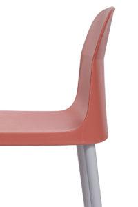 SANTI Lot de 2 chaises design Intérieur / Extérieur - Cuisine - Jardin - Safran Orange