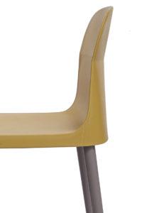SANTI Lot de 2 chaises design Intérieur / Extérieur - Cuisine - Jardin - vert