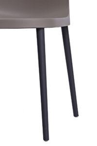 SANTI Lot de 2 chaises design Intérieur / Extérieur - Cuisine - gris