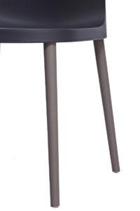 SANTI Lot de 2 chaises design Intérieur / Extérieur - Cuisine - noir
