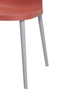 SANTI Lot de 2 chaises design Intérieur / Extérieur - Cuisine - orange