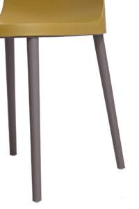 SANTI Lot de 2 chaises design Intérieur / Extérieur - Cuisine - vert