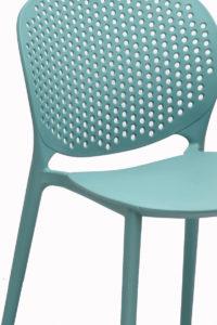 Chaise jardin, exterieur moderne en plastique design - Bleu
