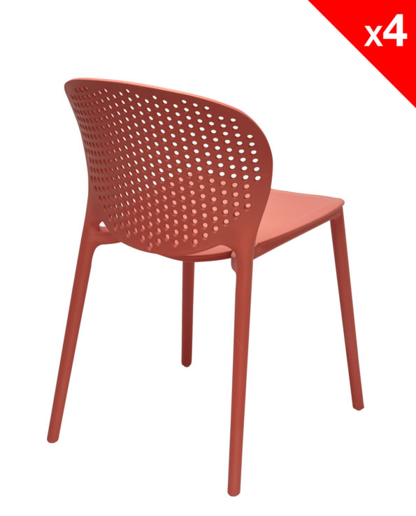 Chaise de cuisine - jardin Design Moderne en Plastique - GOA - Safran