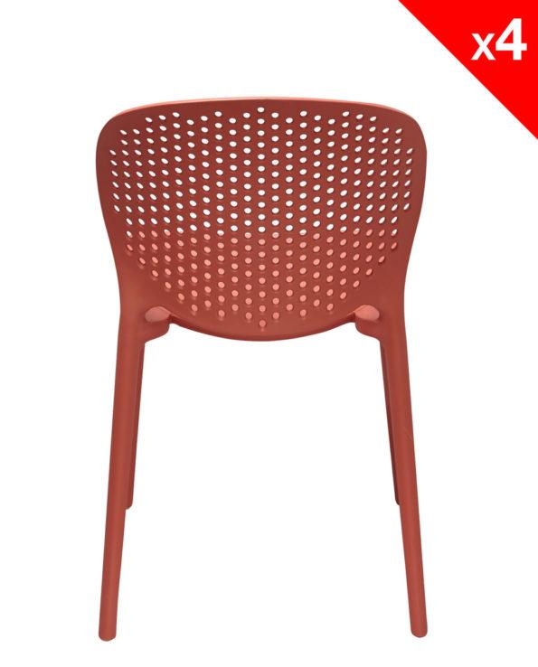 Chaise de jardin terrasse Design Moderne en Plastique - GOA - Safran