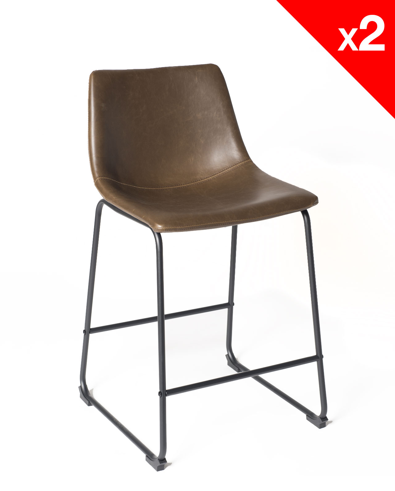 Chaises De Bar Vintage Industriel Lot De 2 Helio61 Kayelles Com
