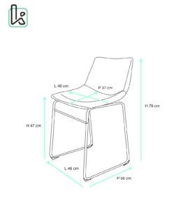 Kayelles - chaise de cuisine vintage industriel - HELIO 47 - metal