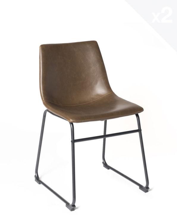 kayelles-chaise-cuisine-vintage-HELIO-lot-2-chaises-piètement-metal-industriel-marron