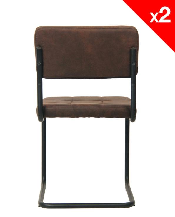 Chaise industrielle - SAFI lot de 2 chaises vintage - Kayelles