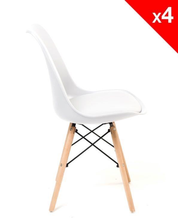 Chaise scandinave ( blanc ) NASI - chaise de cuisine