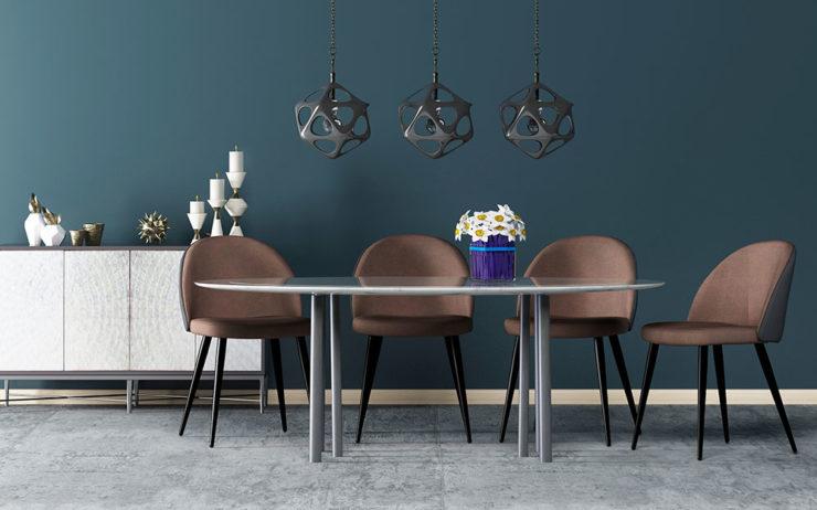 Chaises Vintage style Scandinave GIZA Salle à manger (Marron)